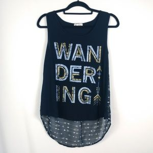 About a Girl Wandering High Low Tank Top